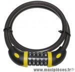 Antivol vélo cable a combinaison diamètre 12mm l 80cm marque Auvray - Accessoire Vélo