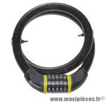 Antivol vélo cable a combinaison d 20mm l 1m marque Auvray - Accessoire Vélo