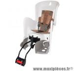 Porte bebe arrière inclinable a fixer sur cadre bilby rs creme coussin marron marque Polisport - Pièce Vélo