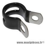 Collier de porte bagage alu noir diamètre 16mm (sachet de 10 pièces) - Accessoire Vélo Pas Cher