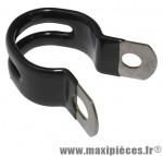 Collier de porte bagage alu noir diamètre 20mm (sachet de 10 pièces) - Accessoire Vélo Pas Cher