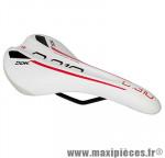 Selle route/VTT c310 blanc deco rouge/noir avec rail acier noir 278x137mm marque DDK - Accessoire Vélo
