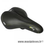 Selle city confort fluidy dame noir 270x195mm rail acier noir marque DDK - Accessoire Vélo