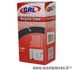 Chambre à air de vélo et de dimensions 29x1.75-2.25 valve presta marque GRL - Pièce Vélo