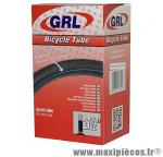 Chambre à air de vélo et de dimensions 27.5x2.00-2.40 valve schrader marque GRL - Pièce Vélo