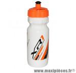 Bidon xr1 blanc bouchon orange fluo 600ml biodégradable marque Race One - Accessoire Vélo