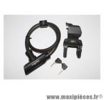 Antivol vélo cable a clé mako diamètre 14mm l900mm avec support marque Squire - Accessoire Vélo