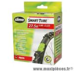 Chambre à air de vélo et de dimensions 27.5x1.90-2.25 valve presta avec liquide anti-crevaison marque Slime - Pièce Vélo