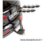 Porte vélo d'attelage pour 4 vélos inclinable avec antivol - Accessoire Vélo Pas Cher