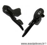 Levier/manette route 9v. triple alu noir (paire) compatible shimano marque Microshift - Pièce Vélo