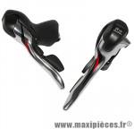 Levier/manette route 10v. triple alu argent (paire) compatible shimano marque Microshift - Pièce Vélo