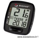 Compteur bc 812 ats noir sans fil (8 fonctions) marque Sigma - Accessoire Vélo