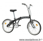 Vélo pliant 20 car-bike acier monovitesse noir mat (taille 31) marque Cinzia - Vélo - Autres vélos complet