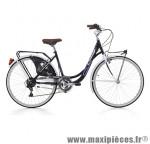 Vélo city bike 26 liberty acier femme 6v noir/blanc (taille 44) (shimano rs-35+ty-21) marque Cinzia - Vélo de Ville complet