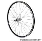 Roue VTT 26 pouces arrière alu noir double paroi moy alu roue libre 7/6v. axe plein - Accessoire Vélo Pas Cher * Prix spécial !