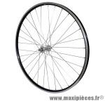 Roue VTC 700x35 avant alu noir double paroi moy alu axe plein - Accessoire Vélo Pas Cher