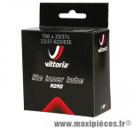 Chambre à air de vélo et de dimensions 700x33-38 valve presta marque Vittoria - Pièce Vélo