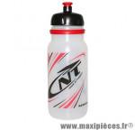 Bidon newone translucide deco rouge/noir 600ml (visser) marque Newton - Pièce Vélo