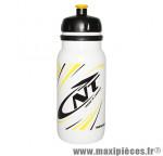 Bidon newone blanc deco jaune/noir 600ml (visser) marque Newton - Pièce Vélo