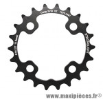 Plateau 22 dents VTT double d.64 2x10 int noir 4 branches 10v. (pour ext 36 dents) non filete marque Stronglight - Pièce Vélo