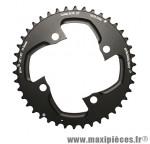 Plateau 42 dents VTT double d.104 2x10 ext noir 4 branches 10v. (pour int 30 dents) non filete marque Stronglight - Pièce Vélo