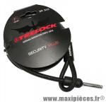 Antivol vélo cable a boucle pour fer a cheval rs350 noir 1m diam 10mm marque Trelock - Accessoire Vélo