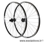 Roues VTT 27.5 pouces combo noir œillet (utilisation v-brake ou disc) moy shimano marque Vélox - Pièce Vélo
