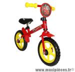 Draisienne 12 pouces garçon cars rouge - Accessoire Vélo Pas Cher - Draisienne pour enfant