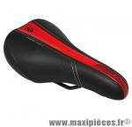 Selle enfant mission noir deco rouge/argent 240x160mm rail acier noir marque DDK - Accessoire Vélo