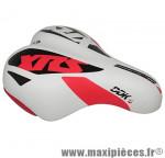 Selle enfant xrs blanc deco rouge/noir 203x145mm rail acier noir marque DDK - Accessoire Vélo