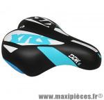 Selle enfant xrs noir deco bleu/blanc 203x145mm rail acier noir marque DDK - Accessoire Vélo
