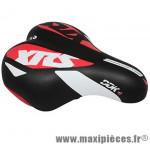 Selle enfant xrs noir deco blanc/rouge 203x145mm rail acier noir marque DDK - Accessoire Vélo