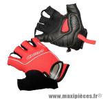Gant de vélo été air zone gel rouge S protect canal carpien (paire) marque Chiba - Equipement Vélo