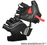 Gant de vélo été air zone gel noir S protect canal carpien (paire) marque Chiba - Equipement Vélo