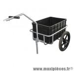 Remorque vélo utilitaire maxi 40kgs (dimensions du bac l55xl39xh30) - Accessoire Vélo Pas Cher