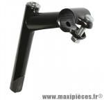 Déstockage ! Potence VTT long. 90 mm noire diam.cintre 25,4mm et pivot 22,2mm angle 25°