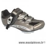 Chaussure VTT e-sm306 gris 2 velcros 1 microclip t42 (paire) marque Exustar - Equipement Vélo pour cycliste