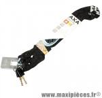 Antivol vélo chaine a clé clinch noir diamètre 6mm l 85cm avec antivol marque Axa-Basta - Accessoire Vélo