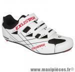 Chaussure route e-sr493 blanc 3 velcros t39 (paire) marque Exustar - Equipement Vélo pour cycliste