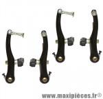 Etrier de frein VTT/city v-brake alu noir (2 paires) 103mm - Accessoire Vélo Pas Cher