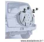Porte vélo 4x4 pour 2 vélos avec emplacement fixation sur roue de secours (maxi 30kgs) marque Peruzzo - Accessoire Vélo