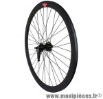Roue route / fixie 43mm noir arrière rétropédalage - Accessoire Vélo Pas Cher
