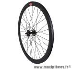 Roue route / fixie 43mm noir avant - Accessoire Vélo Pas Cher