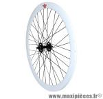 Roue route / fixie 43mm blanc avant - Accessoire Vélo Pas Cher