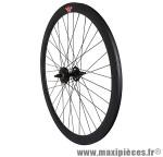 Roue route / fixie 43mm noir arrière double filetage - Accessoire Vélo Pas Cher