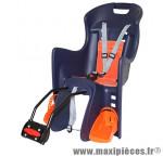 Porte bébé arrière a fixer sur cadre boodie bleu fonce coussin orange marque Polisport - Pièce Vélo