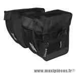 Sacoche arrière city tour double colori noir (lg - 40 litres) (paire) marque Basil - Matériel pour Cycle
