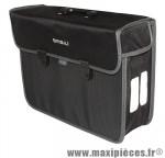 Sacoche arrière city malaga latéral droit/gauche colori noir (lg - 17 litres) (40x31x14 cm) marque Basil - Matériel pour Cycle