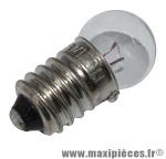 Ampoule/lampe 6 volts 0,6 watts culot e-10 graisseur blanc (feu de pos.) marque Flosser - Accessoire Vélo