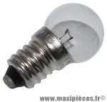 Ampoule/lampe 6 volts 2,4 watts e10 graisseur blanc (projecteur) marque Flosser - Accessoire Vélo
